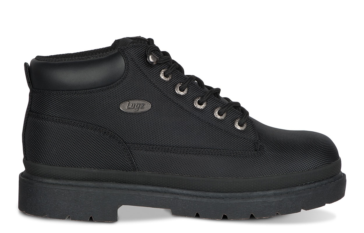 Lugz: superior comfort, flexastride insole, water resistant, water resistant, direction grip outsole, and traction where you need it!
